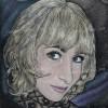 Женский цветной граверный портрет