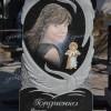 Граверный портрет мамы с ребенком в виде ангелочка