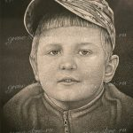 Детский портрет на базальте