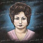 Цветной женский портрет