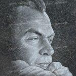 Мужской портрет с рукой