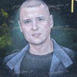Мужской граверный портрет в цвете
